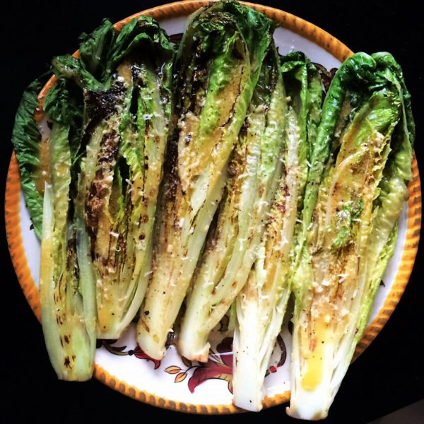 Grilled Romaine with Caesar Vinaigrette