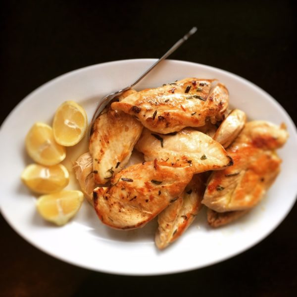 Pan-fried Chicken Breast, ready to be served