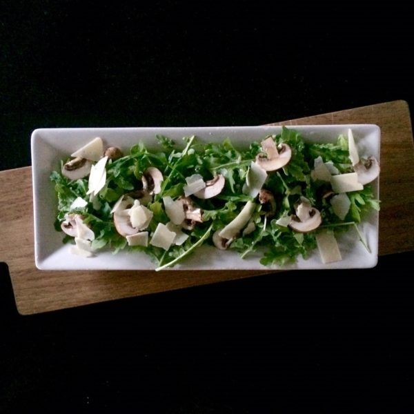 Insalata di Rucola e Funghi, simple and delicious